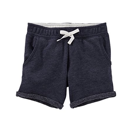 OshKosh B'gosh Little Girls' French Terry Bermuda Shorts - Navy - 6 Kids