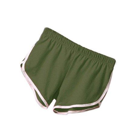 ZEFINE Women Gym Yoga Sports Waistband Skinny Shorts -