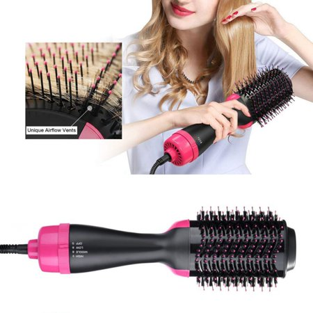 One-Step Hair Dryer & Volumizer Hot Air Brush, Negative Ions Hair Dryer, Curler and Straightener for All Hair