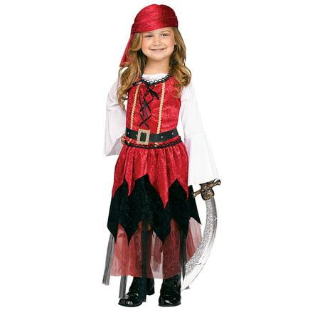 Pirate Princess Costume Toddler (Pirate Princess Girls Toddler Buccaneer Halloween)