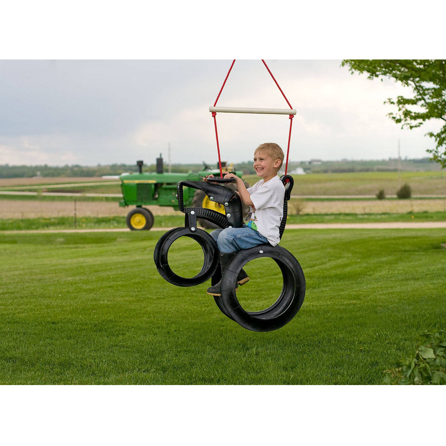 M&M Sales Enterprises Inc Tractor Ride'n Tire Swing