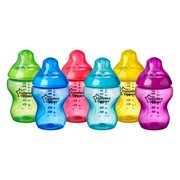 Tommee Tippee Closer to Nature Fiesta Baby Bottle | Breast-Like Nipple with Anti-Colic Valve, BPA-free – 9-ounce, 6 Count