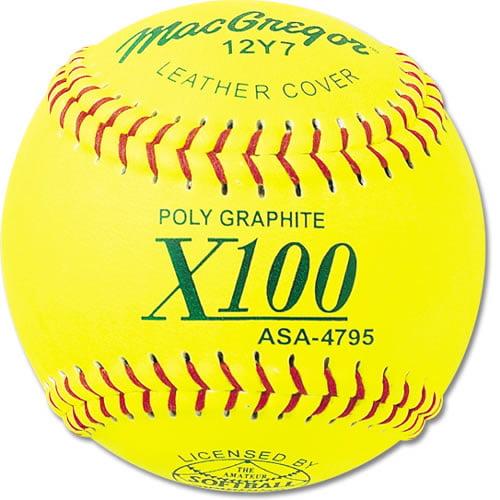 """MacGregor 12"""" ASA Fast-Pitch Softballs (Quantity: 12) by MacGregor"""