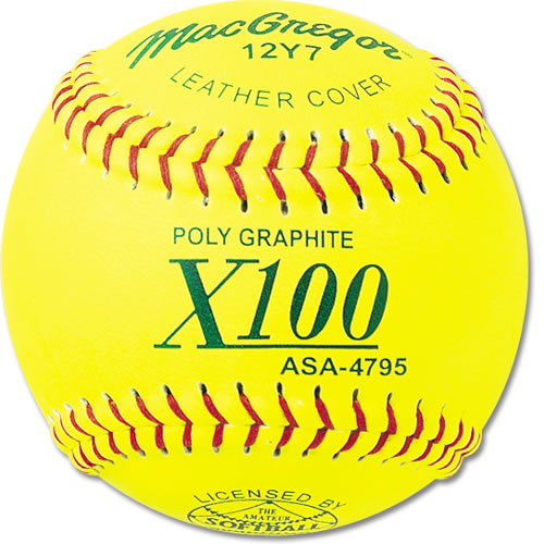 MacGregor ASA Approved Fastpitch Softballs, 1 Dozen