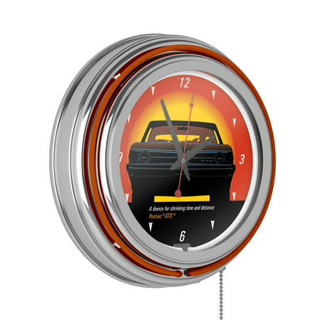 Trademark Global Pontiac GTO Time and Distance Double Ring Neon Clock Big Boy Neon Clock