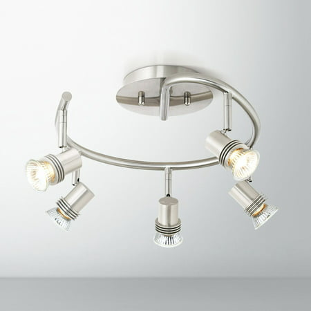 "Pro Track 15 3/4"" Wide 5-Light Spiral Track Ceiling Light"