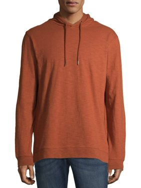 George Men's and Big Men's Slub Pullover Hoodie, up to Size 5XL