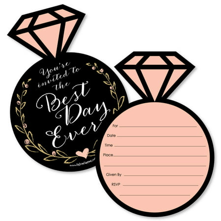 Best Day Ever - Shaped Fill-In Invitations - Bridal Shower Invitation Cards with Envelopes - Set of