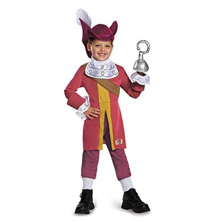 Disguise Captain Hook Deluxe Costume, Large (4-6) - Deluxe Captain Hook Costume