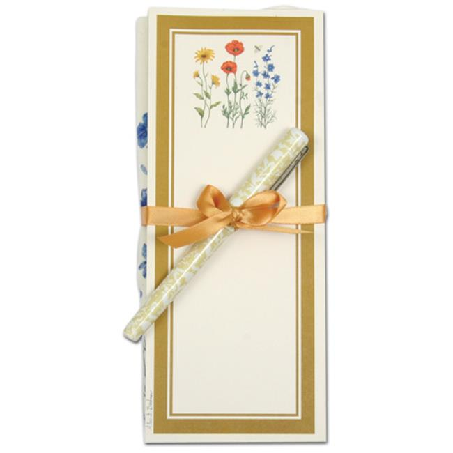 Floral Trio Flour Sack Towel and Magnetic Note Pad Set