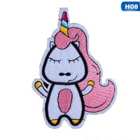 KABOER 1 PcAnimal Unicorn Patch Embroidery Cloth Patch Horse Badge Unicorn Stickers Applique Accessories Iron On Patches Sequin Patches