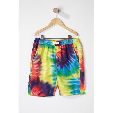 35ba19cf71 Urban Kids Youth Boys Rainbow Tie Dye Swim Trunk - image 2 of 2 ...