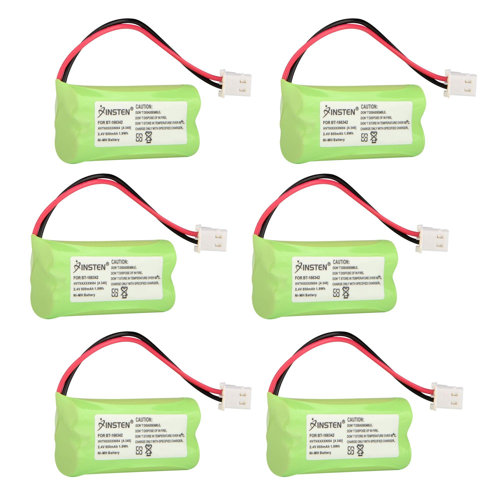 BT-183342 Battery by Insten for 6-pack 800mAh 2.4V NI-MH BT183342 BT283342 Replacement Battery for VTech DS6151 CS6429 CS6114 LS6475-3 CS6419-2 CS6519-2 DS6521-2 AT&T TL86109 Cordless Phones