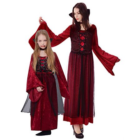 Ikali Girl Vampire Costume Outfit Princess Fancy Dress Up Gown For Halloween Party 7 8y Walmart Canada