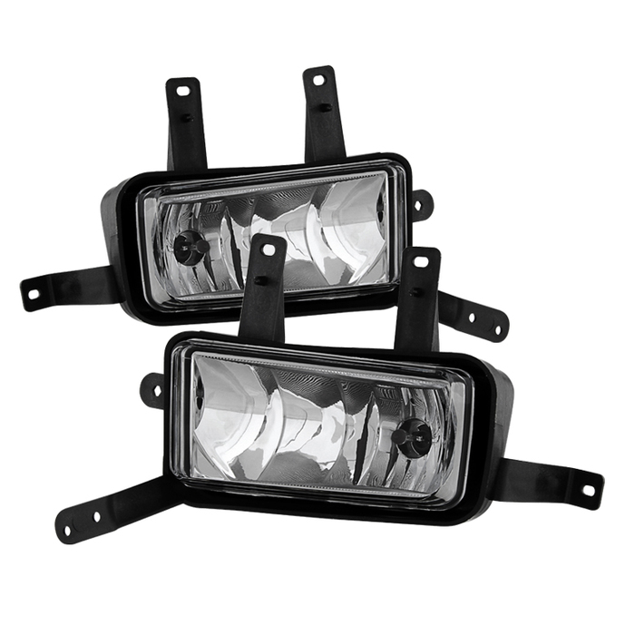 Spyder Chevy Suburban Tahoe 2015-2017 OEM Fog Lights W/Chrome trim Cover and Switch - Clear