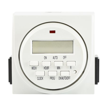 Hiltex 7 Day Programmable Timer | Digital Electronic Switch Dual 2 Outlet UL
