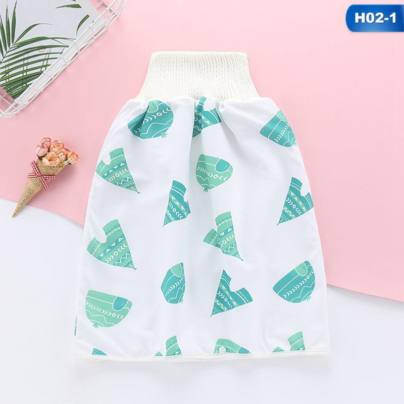 2 in 1 Waterproof Super Absorbent Leak-proof Washable Baby Diaper Skirt Pants Comfy Children Diaper Skirt Shorts Children Diaper Skirt Short Yusea Baby Potty Training Pants
