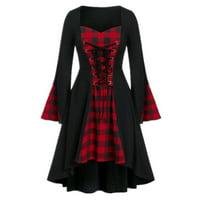 Women's Halloween Renaissance Medieval Cloak Witch Cosplay Fancy Dress
