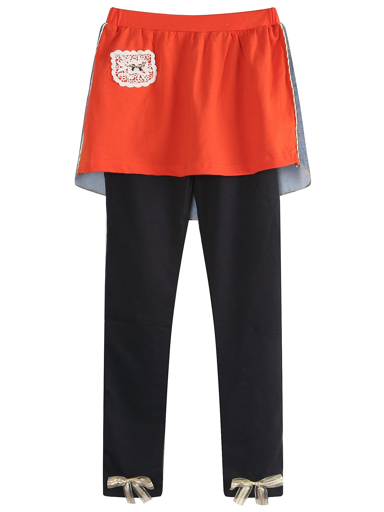 Richie House Girls' Knit Leggings with Contrasting Skirt RH1652