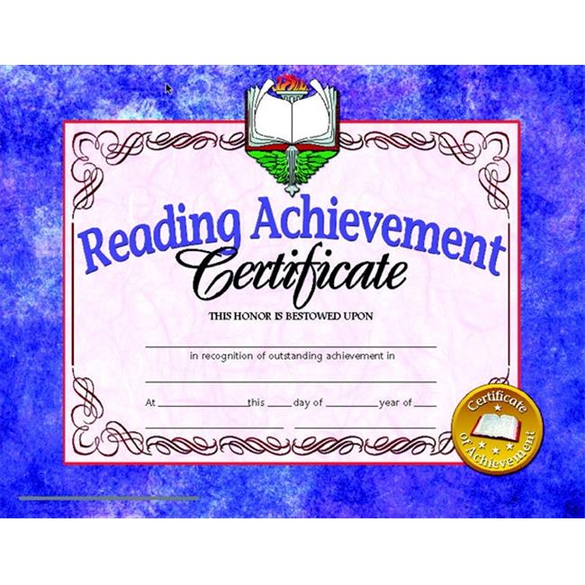 Hayes 078296 Reading Achievement Certificate, 8.5 x 11 In. - Pack 30