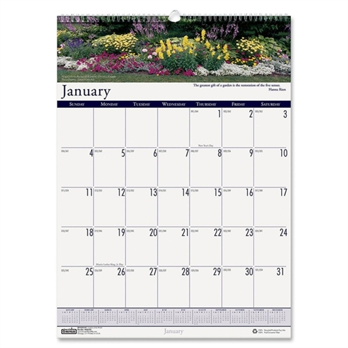HOUSE OF DOOLITTLE                                 Earthscapes Gardens of the World Monthly Wall Calendar, 15-1/2 x 22, 2013