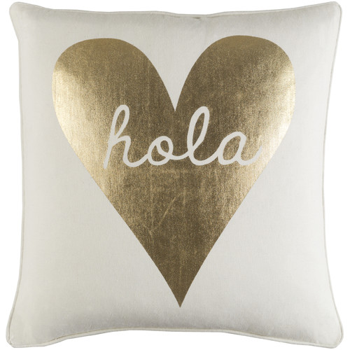 """Artistic Weavers Glyph Hola 18"""" x 18"""" Pillow (with Down Fill)"""
