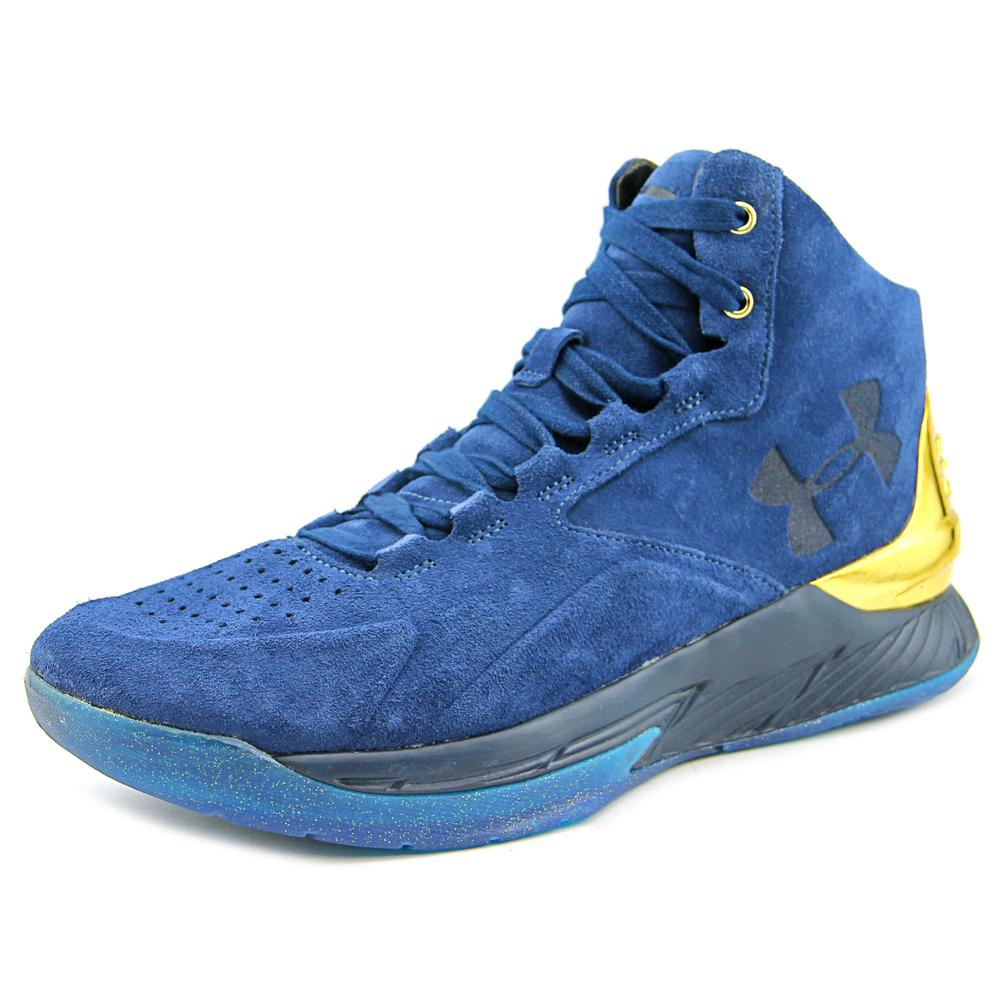 Under Armour Curry 1 Lux Mid Men  Round Toe Suede Blue Ba...