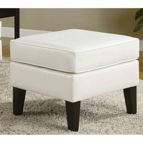 Roundhill Wonda Bonded Leather Ottoman, Multiple Colors Available