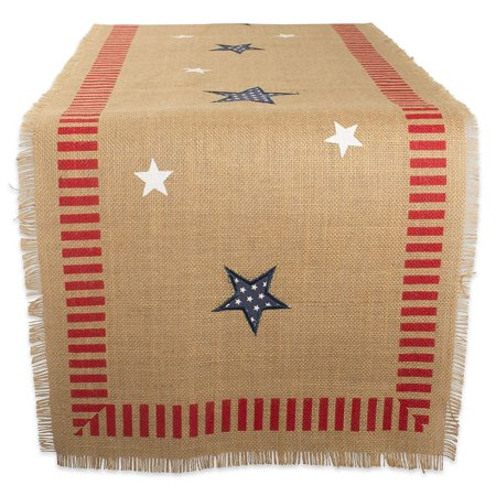 4th Of July Table Runner (DII 4th Of July Jute Table Runner, 15x74
