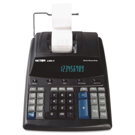 Victor 1460 4 Extra Heavy Duty Printing Calculator  Black Red Print  4 6 Lines Sec