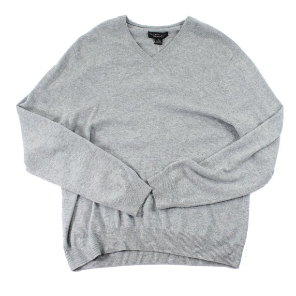 Bloomingdale's NEW Light Gray Mens Size XL V-Neck Cashmere Sweater