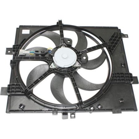 Go-Parts OE Replacement for 2012 - 2016 Nissan Versa Engine / Radiator Cooling Fan Assembly - (Manual Transmission + Automatic Transmission; 4 Speed Transmission + Automatic CVT Transmission; 4 Engine Assembly Manual