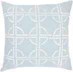 "Rizzy home T03560 18"" x 18"" spa cotton fabric decorative filled pillow"