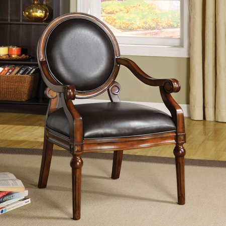Furniture of America  Rowena Leatherette Accent (Leatherette Accent)