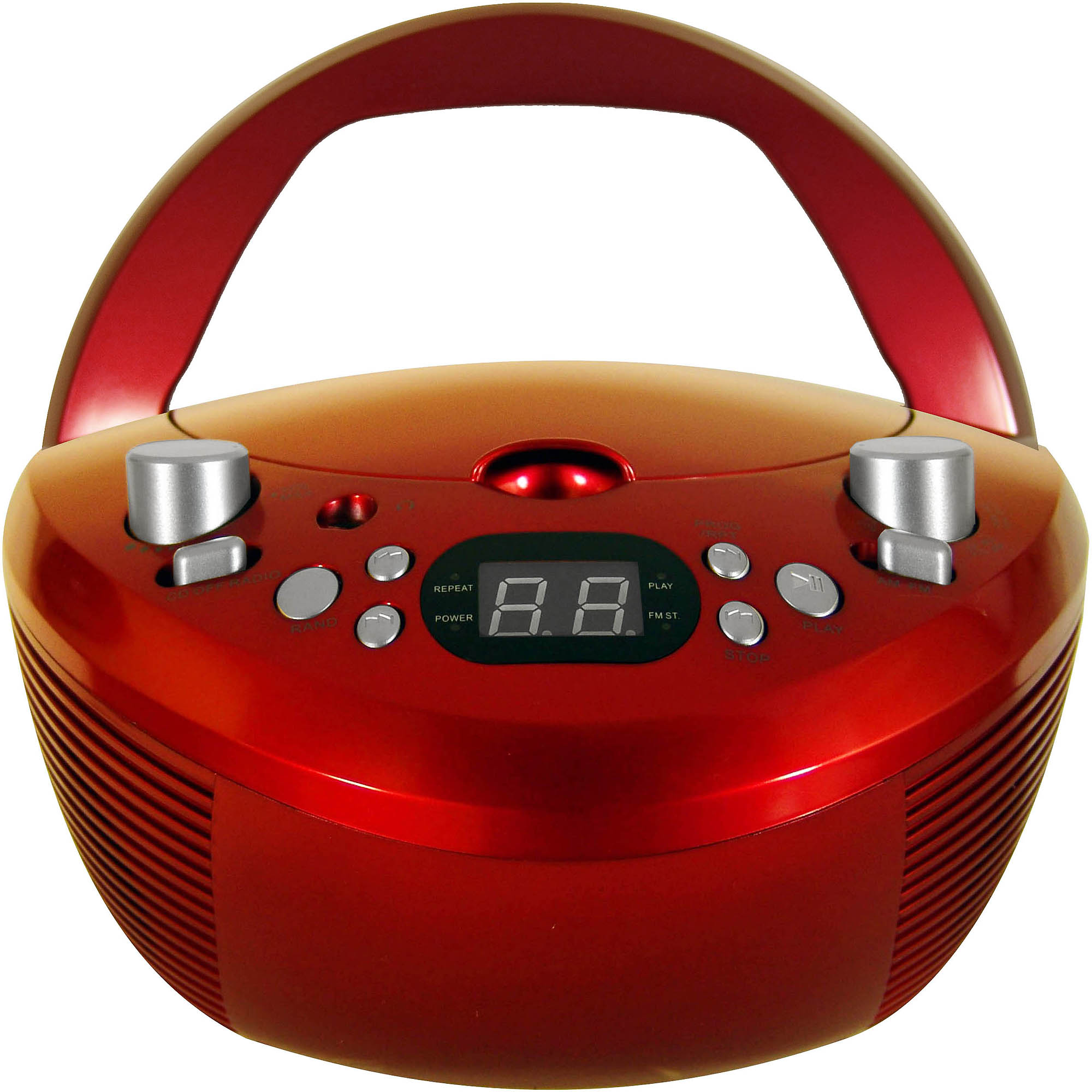Coby CD Player with AM/FM Tuner,CX-CD251 Red