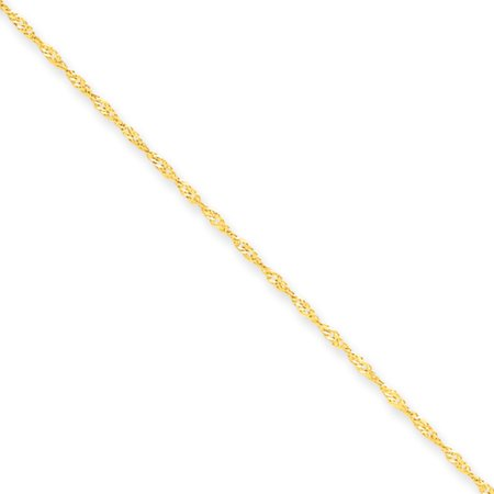 1.1mm, 14k Yellow Gold, Singapore Chain Necklace, 20 Inch