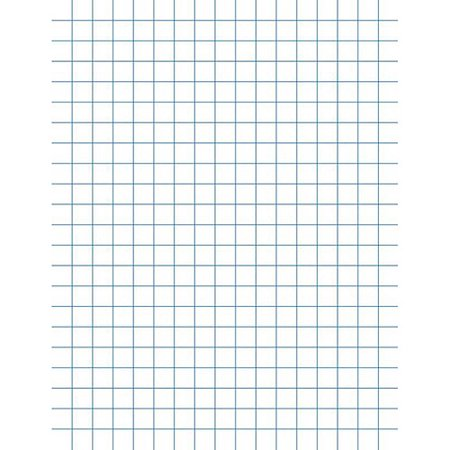 School Smart Double Sided Graph Paper with Chipboard Back, 8.5