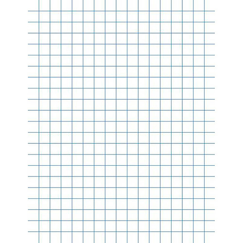 "School Smart Double Sided Graph Paper with Chipboard Back, 8.5"" x 11"", White, Pack of 500"