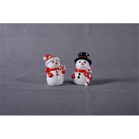 SNOWMAN Salt & Pepper Shaker Set by Transpac - Snowman Salt And Pepper Shakers