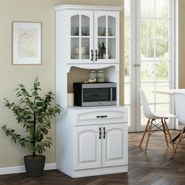 Living Skog Pantry Kitchen Storage Cabinet White Mdf White Walmart Com Walmart Com