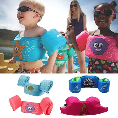 Cartoon Life Jacket Safety Vest Puddle Jumper Swimming Snorkeling For Kids Baby ()