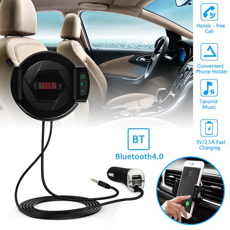 Hand-Free Car Phone Clip FM Transmitter bluetooth MPS Player Car Charger Mobile Phone Holder for 2.1-3.2 Inch Mobile Phone