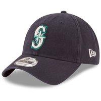 Seattle Mariners New Era Youth Core Classic Replica 9TWENTY Adjustable Hat - Navy - OSFA