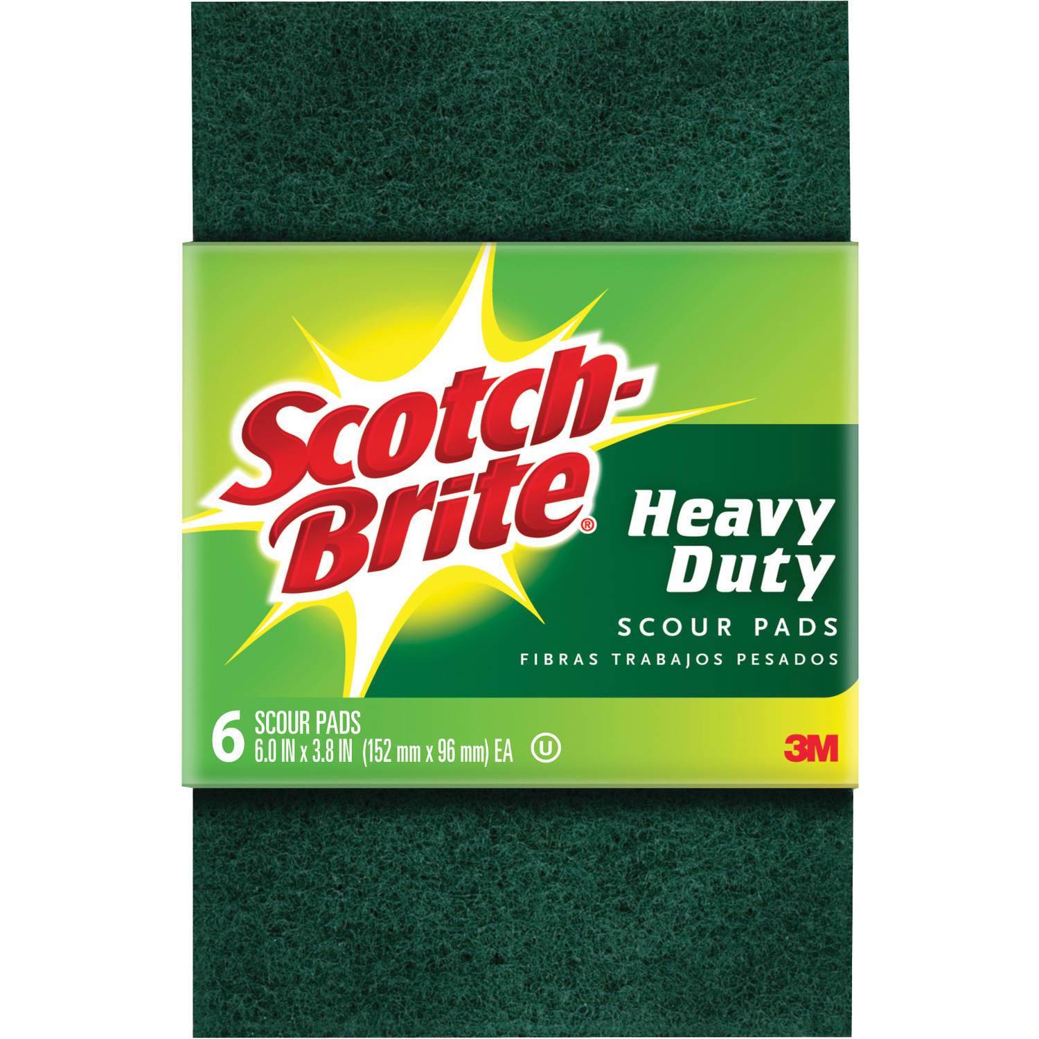 Scotch-Brite Heavy Duty Scour Pads, 6pk