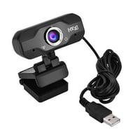 Tebru USB Webcam HD 720P 1MP Camera WebCam With Mic for Desktop PC Laptop Computers, Camera with Mic, USB Webcam