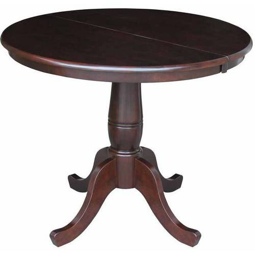 "36"" Round Top Pedestal Table with 12"" Leaf, 30""H"