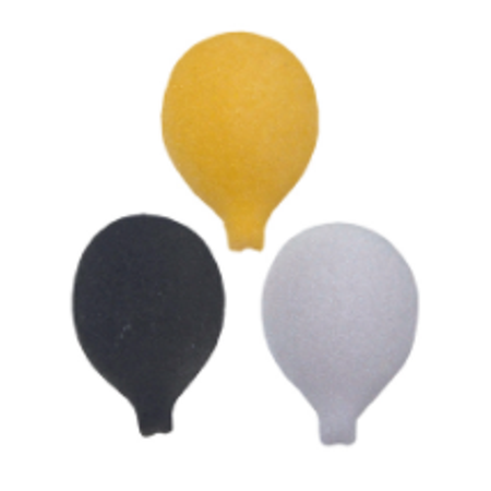 Set of 12 Black Tie Balloon 1 1/4inch Edible Sugar Cake & Cupcake Decoration Toppers](Black Cupcake Decorations)