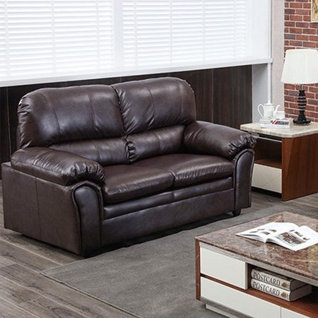 Sofa Sleeper Sofa Leather Loveseat Sofa Contemporary Sofa Couch For Living Room Furniture 2 Seat Modern (Contemporary Living Room Loveseat)