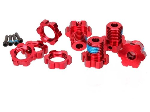 Traxxas 5353R 17mm Splined Wheel Hubs Red-Anodized, 4-Piece by TRAXXAS