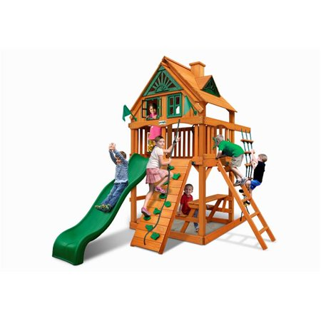 Chateau Treehouse Tower Swing Set with Amber Posts